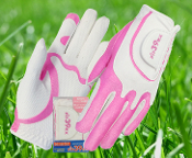 Ladies Glove Pink/White