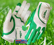 Fit39 Ladies Pair Gloves - Green/White