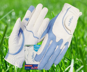 Fit39 Ladies Pair Gloves - Blue/White