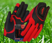 Fit39 Ladies Pair Gloves - Red/Black