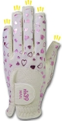 Fit39 Glove Ladies NAIL Pair Heart Pink/White