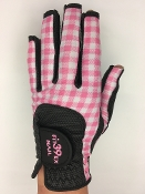 Fit39 Glove Ladies NAIL Pair Gloves Check Pink/Black