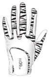 Ladies Glove Zebra/White
